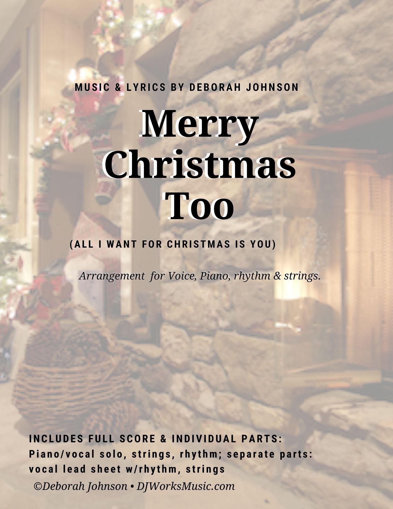 Merry Christmas Too Song Cover-Deborah Johnson